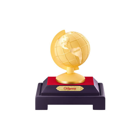 999 Pure Gold Plated Around the World Globe Figurine