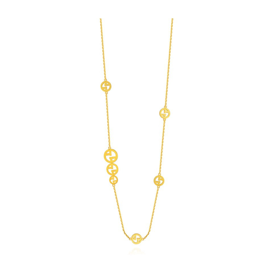 999 Pure Gold Future Gold Because of You Necklace