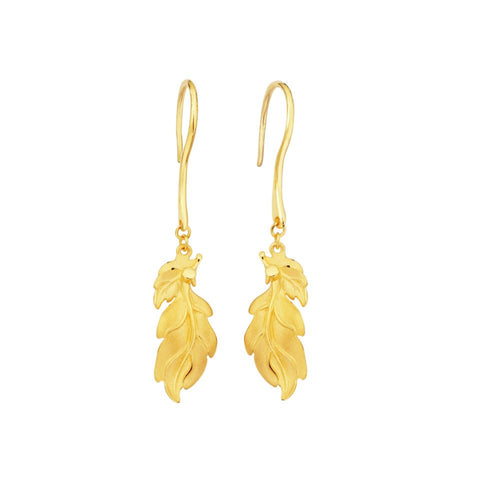 999 Pure Gold Future Gold Four Seasons Earrings