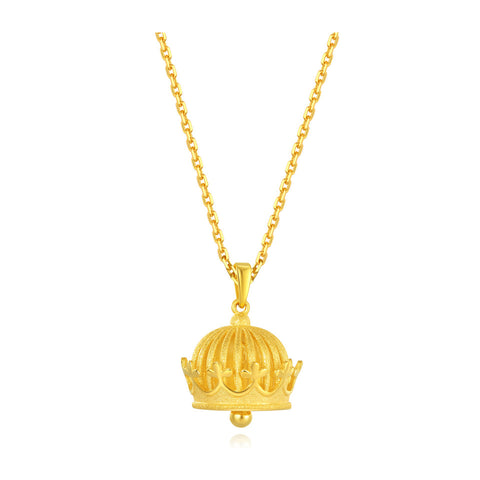 999 Pure Gold Future Gold Listen to Me Royal Bell Necklace