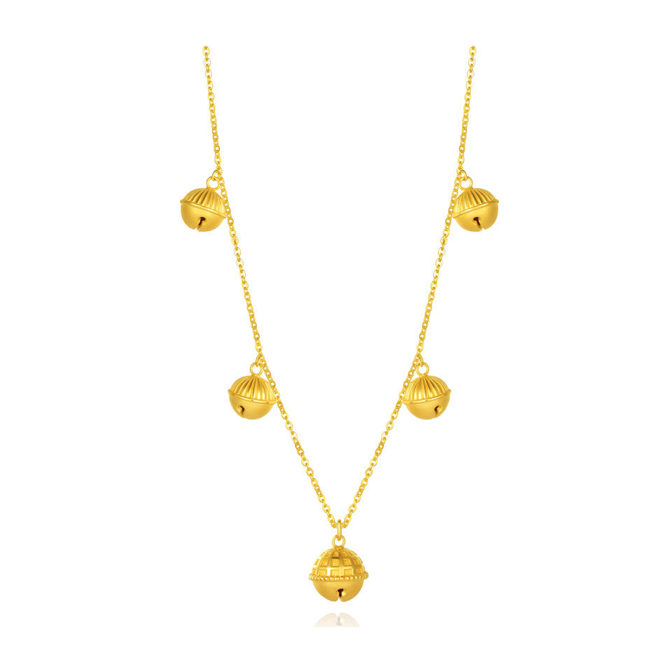 999 Pure Gold Future Gold Listen to Me Sweet Bells Necklace
