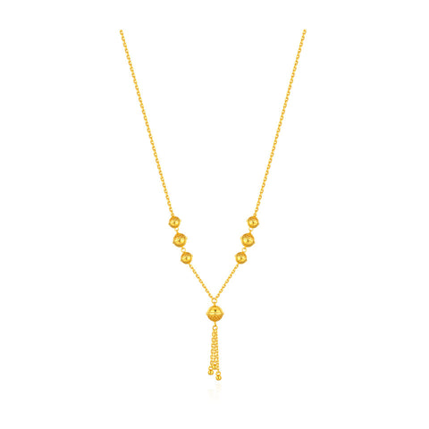 999 Pure Gold Future Gold Listen to Me Tassel Bells Necklace