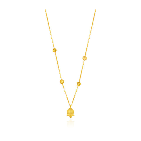 999 Pure Gold Future Gold Listen to Me Whimsical Bells Necklace