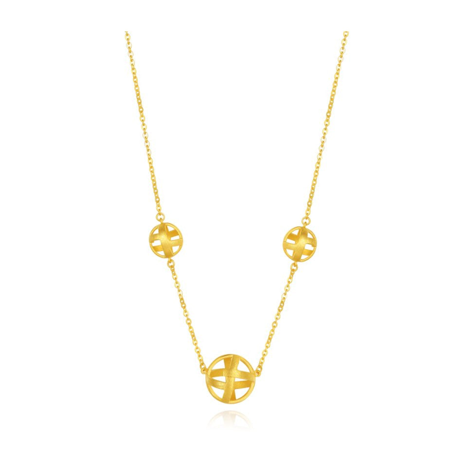 999 Pure Gold Future Gold Weave Necklace