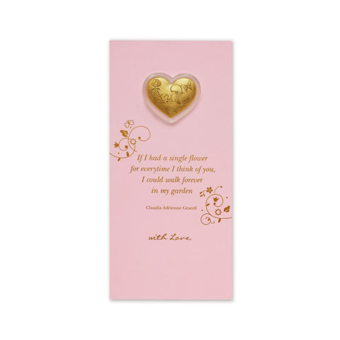 999 Pure Gold Heart of Gold Gift Card (0.2g)