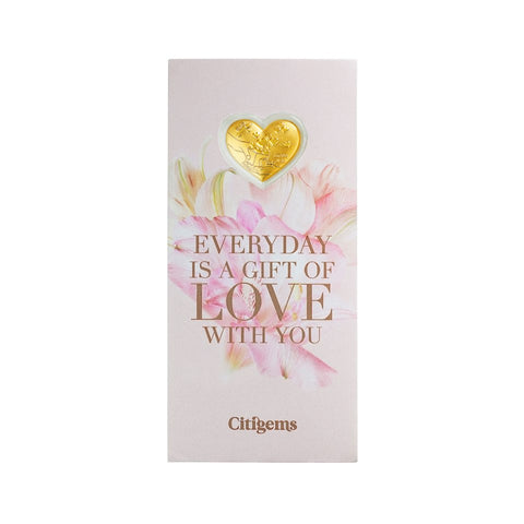999 Pure Gold Love is Around Us Gift Card (0.2g)