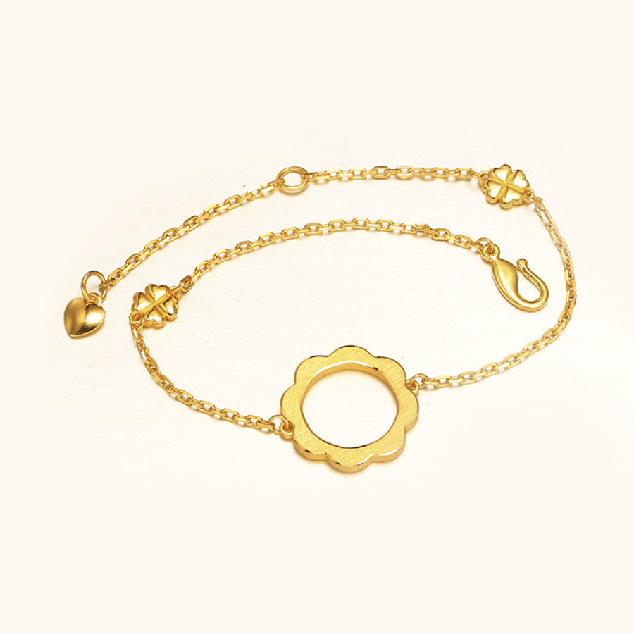 999 Pure Gold Lucky Bracelet