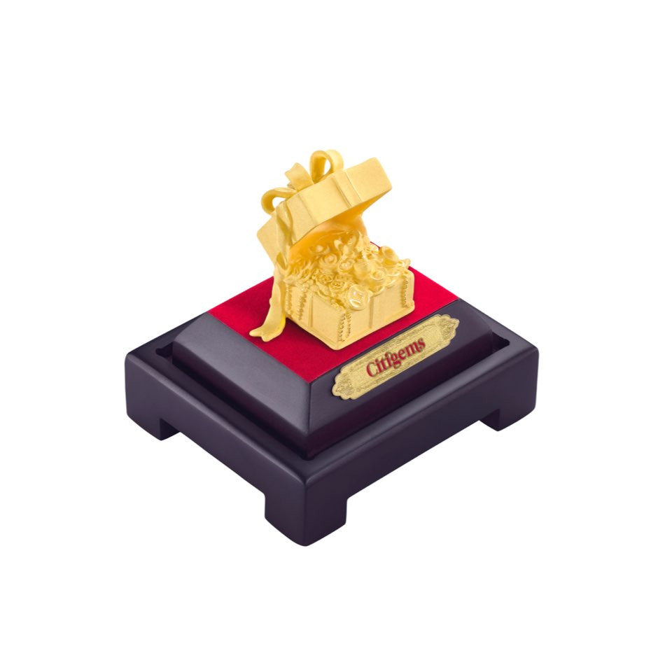 999 Pure Gold Plated City of Gifts Figurine