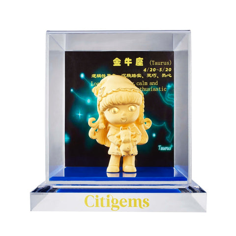 999 Pure Gold Plated Horoscope Figurine - Taurus