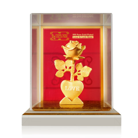 999 Pure Gold Plated Love & Luck Rose
