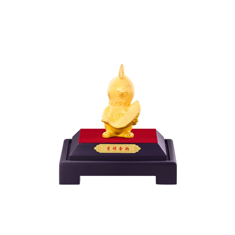 999 Pure Gold Plated Plentiful Abundance Citi-Chick Figurine