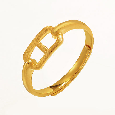 999 Pure Gold Simplicity Time Travel Ring