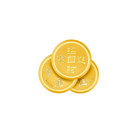 999 Pure Gold Triple Fortune Gold Coin
