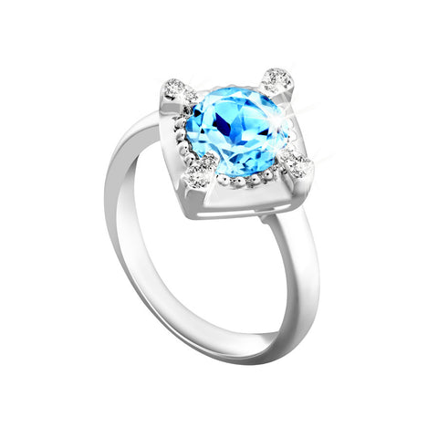 Amazing Wonder Topaz, Diamonds and White Gold Ring