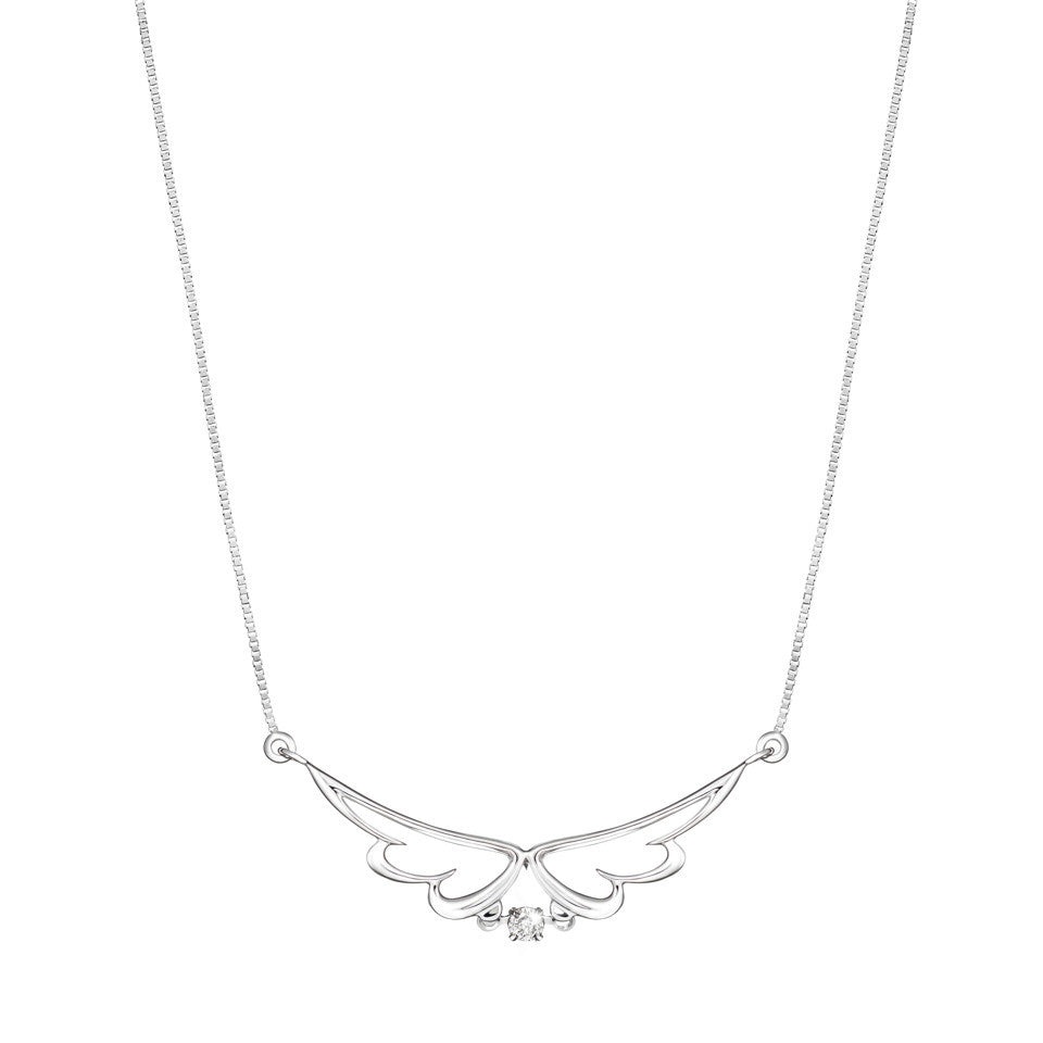 Angel's Blessings Tango Diamond and White Gold Necklace