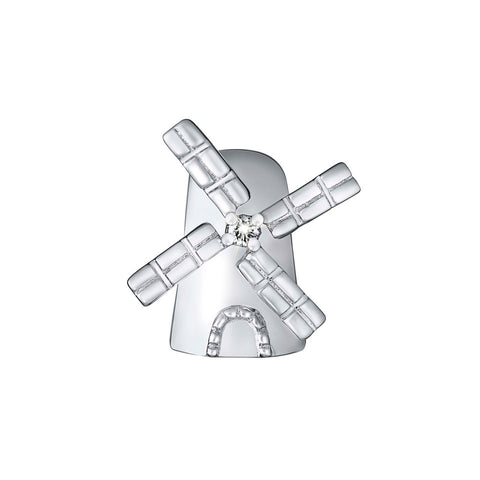Carefree Windmill Diamond and White Gold Charm