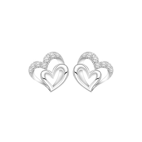 City of Love Diamond and White Gold Earrings
