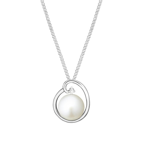 Classic Opera Pearl, Diamond and White Gold Pendant