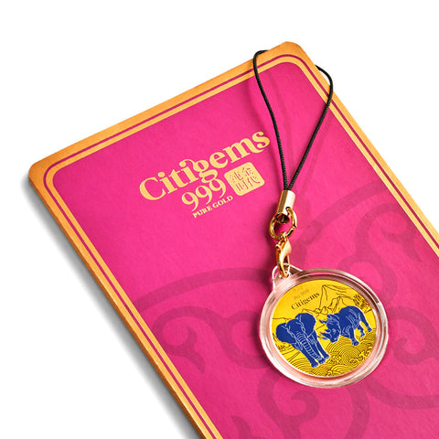999 Pure Gold Protection Blue Rhino and Elephant Coin