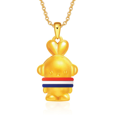 999 Pure Gold Cool Cool Tri-Colour Booto 3D Pendant