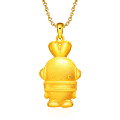 999 Pure Gold Cool Cool Booto 3D Pendant