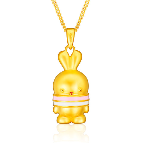 999 Pure Gold Pretti Pretty Tri-Colour Booto 3D Pendant