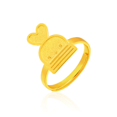 999 Pure Gold Pretti Pretty Booto Ring