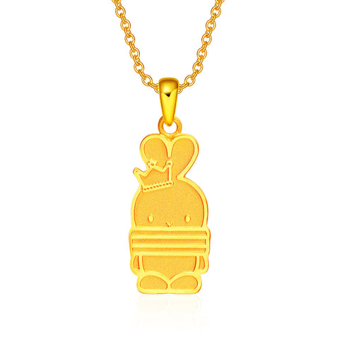 999 Pure Gold Princess Booto Pendant