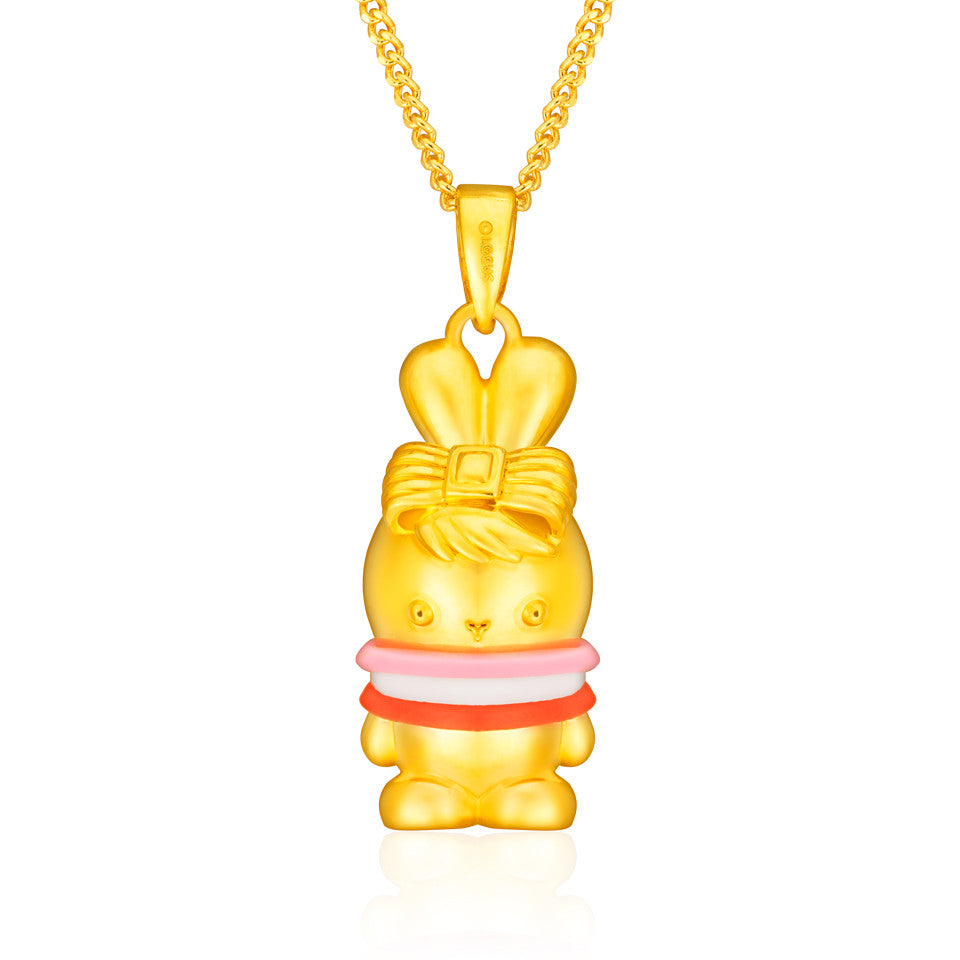 Pure Gold Sweetie Pie Tri-Colour Booto 3D Pendant - Enhancement 2