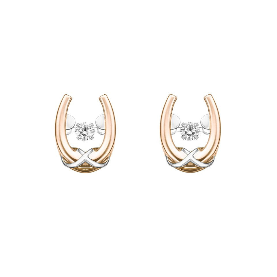 Greek Odyssey Tango Diamond, Rose and White Gold Earrings
