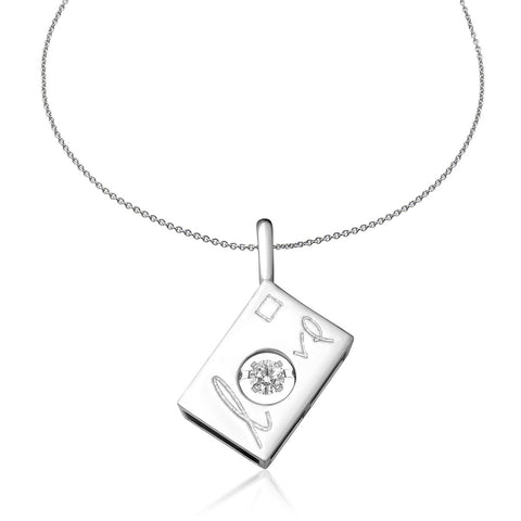 Juliet's Love Tango Diamond and White Gold Pendant