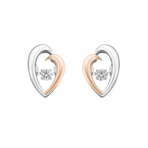 Perfect Duo Tango Diamond, Rose and White Gold Earrings