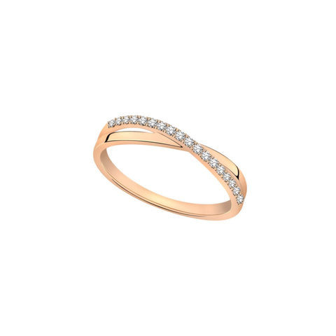 Entwined Romance Diamond and Rose Gold Ring