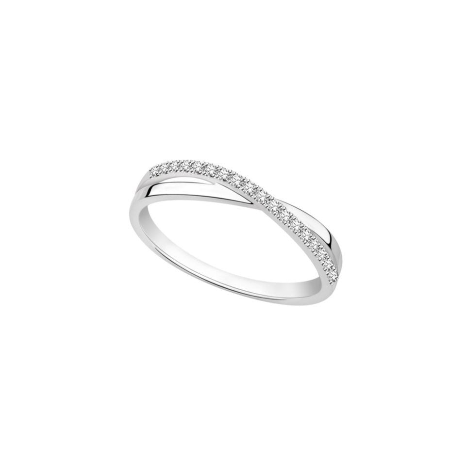 Entwined Romance Diamond and White Gold Ring