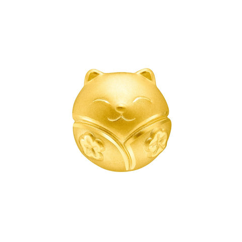 999 Pure Gold Fortune Cat Blooming Success Charm