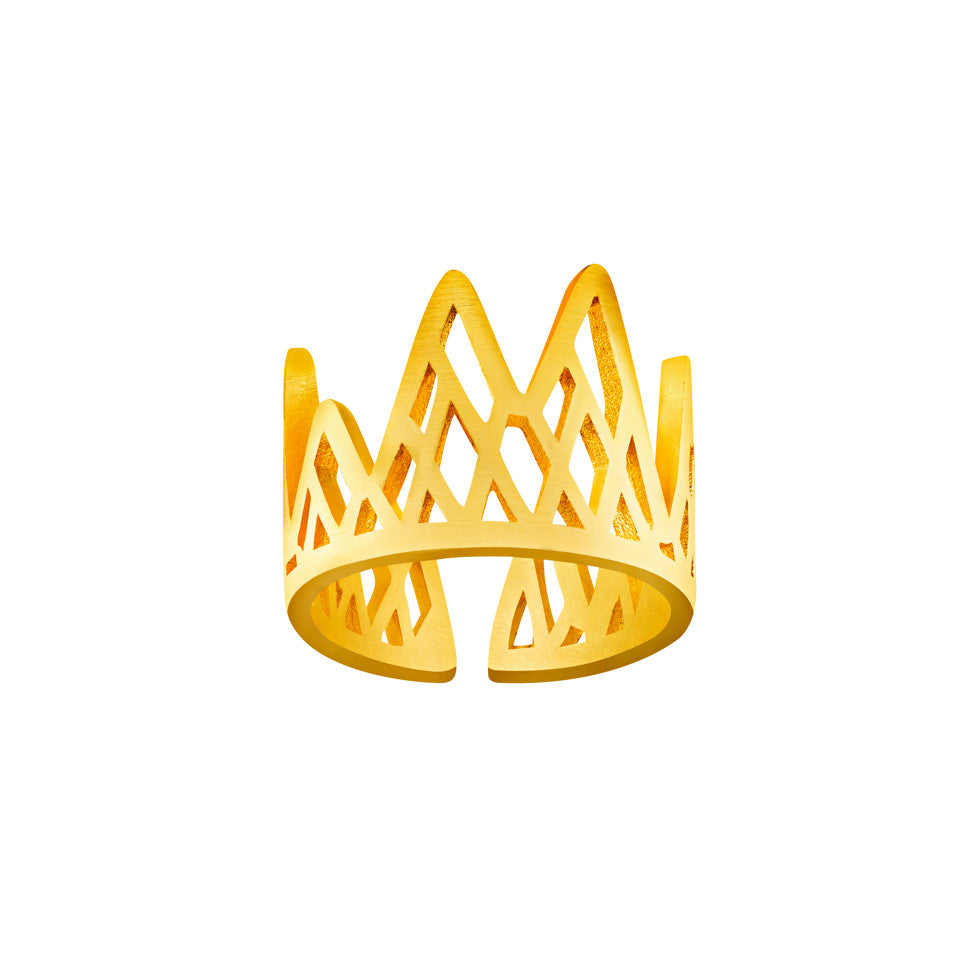 Le Royale Geometric Crown Ring