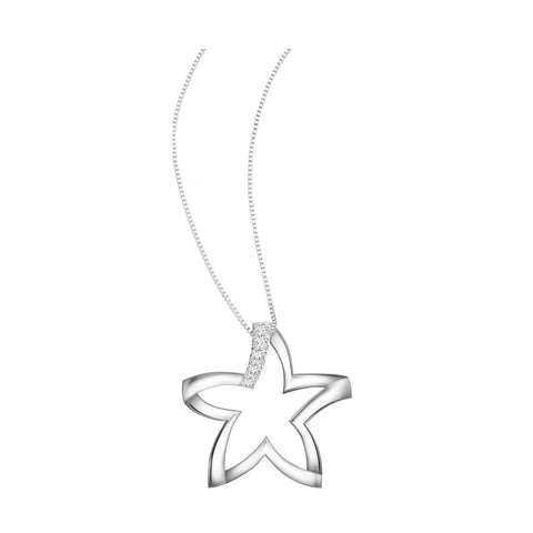 Happy Star Diamond and White Gold Pendant