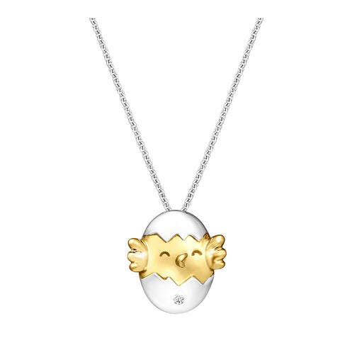 Hatched Baby Citi-Chick Diamond, Yellow and White Gold Pendant