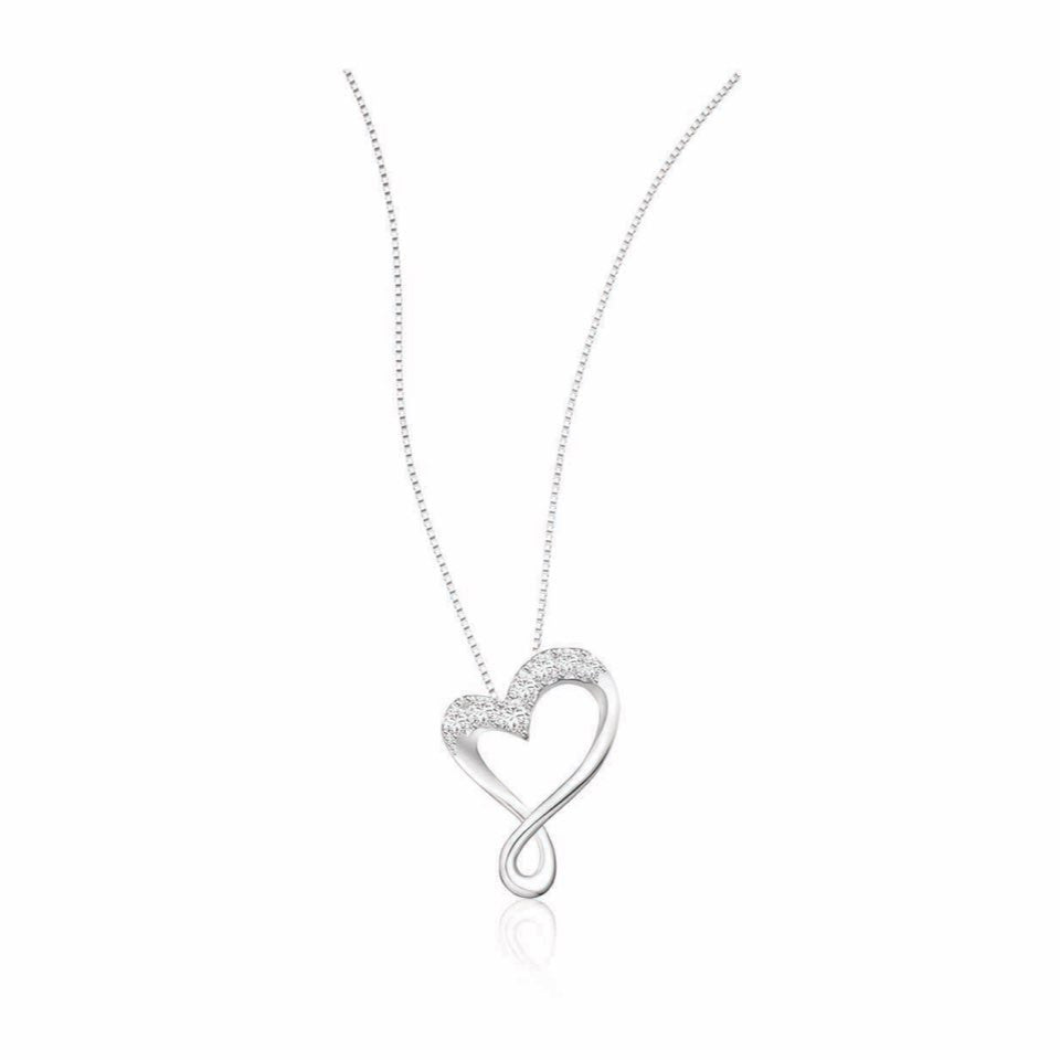 Heartwarming Love Diamonds and White Gold Pendant