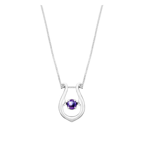 Melodious Harp Amethyst and White Gold Pendant