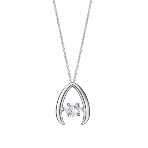 Peak of Life Tango Diamond and White Gold Pendant