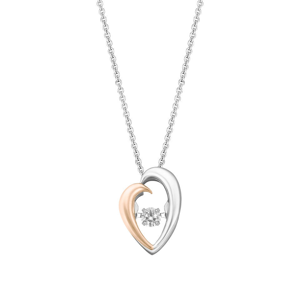 Perfect Duo Tango Diamond, Rose and White Gold Pendant
