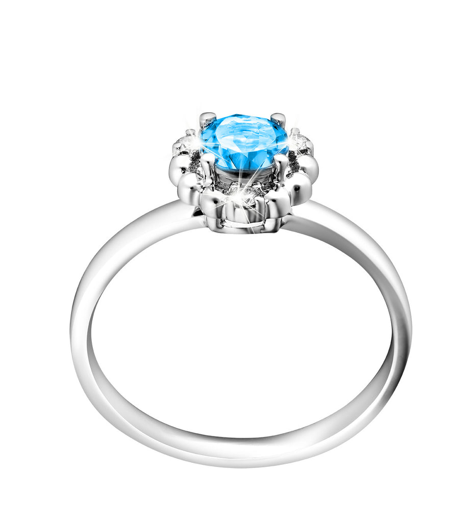 Splendid Vibrance Topaz, Diamond and White Gold Stackable Ring