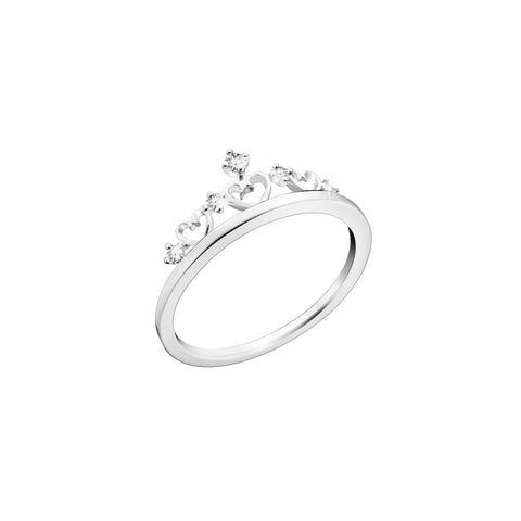 Royal Family Queen of Hearts Diamond and White Gold Ring