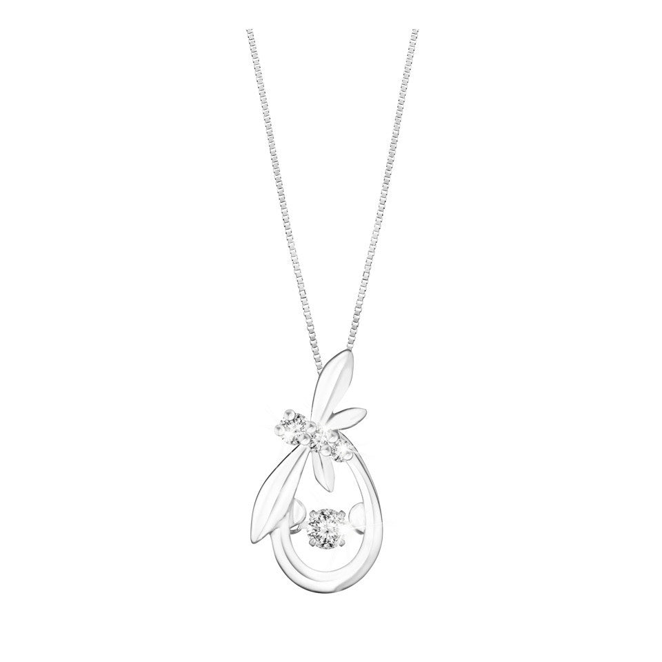 Royal Kew Sweet Dance Diamond with White Gold Pendant
