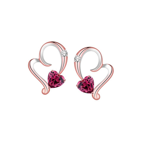 Sweetheart Dearest Coloured Gem and Diamond Rose Gold Earrings