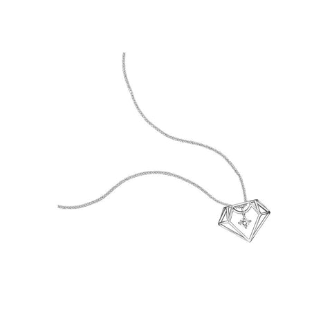 Swing Star Darling Diamond White Gold Pendant