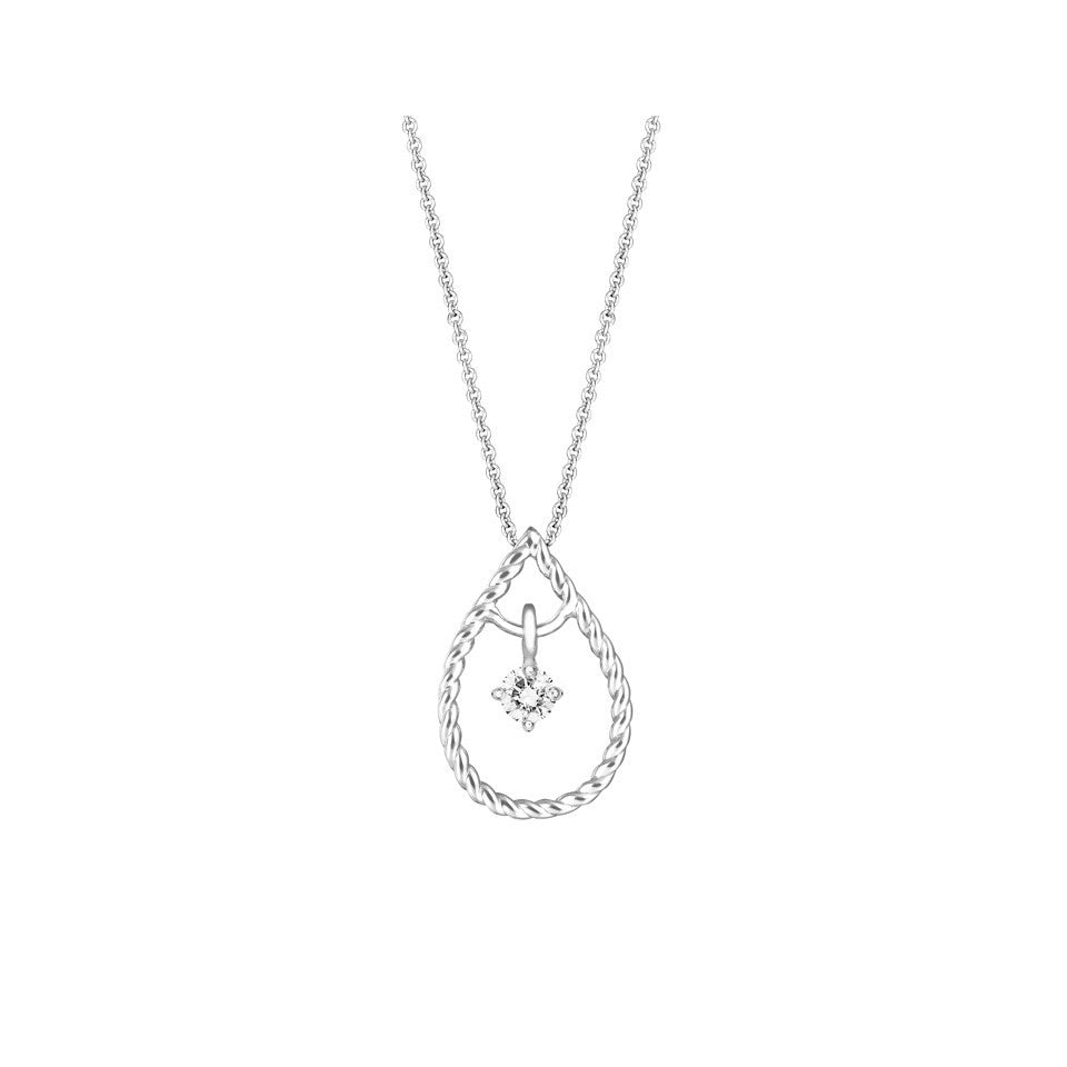 Tie the Knot Swing Star Diamond and White Gold Pendant