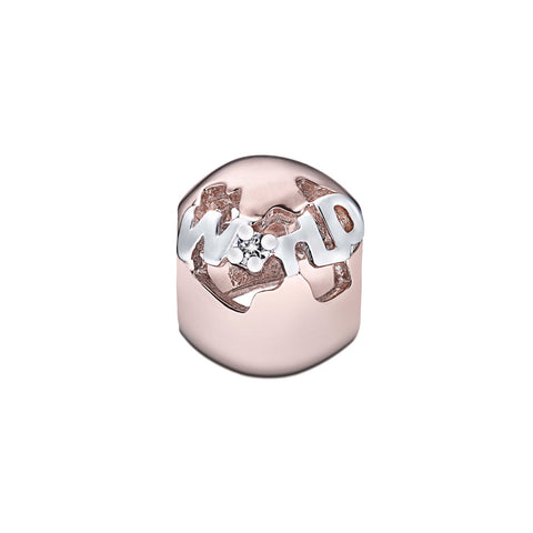 Wanderlust World Diamond, Rose and White Gold Charm