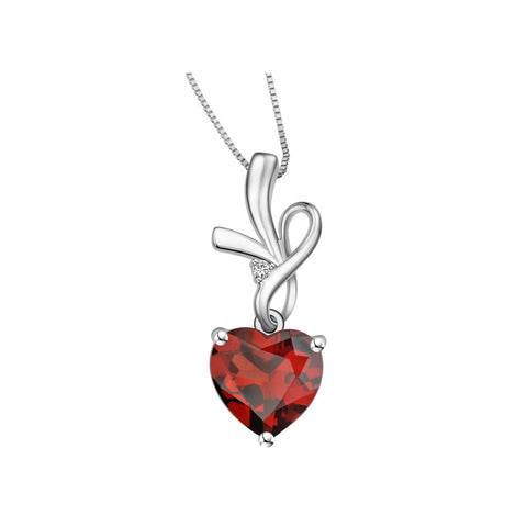 Whimsical Love Coloured Gem and White Gold Pendant